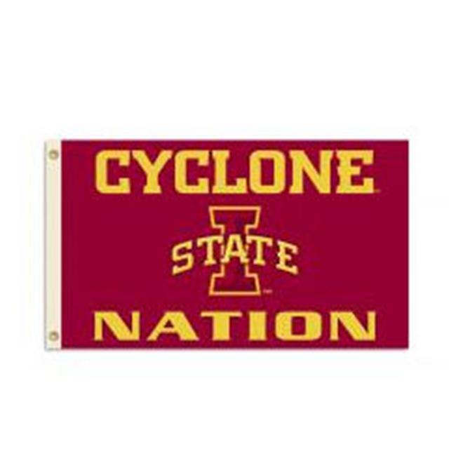 BSI Products 95522 Iowa State Cyclones- 3 ft.  X 5 ft.  Flag W-Grommets