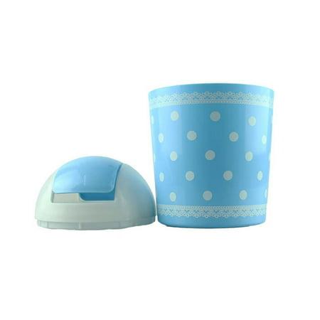 Mosunx Fashion Fresh Lace Polka Dot Desktop Storage Barrels Creative Mini Trash Can wit Beer Barrel Polka Song