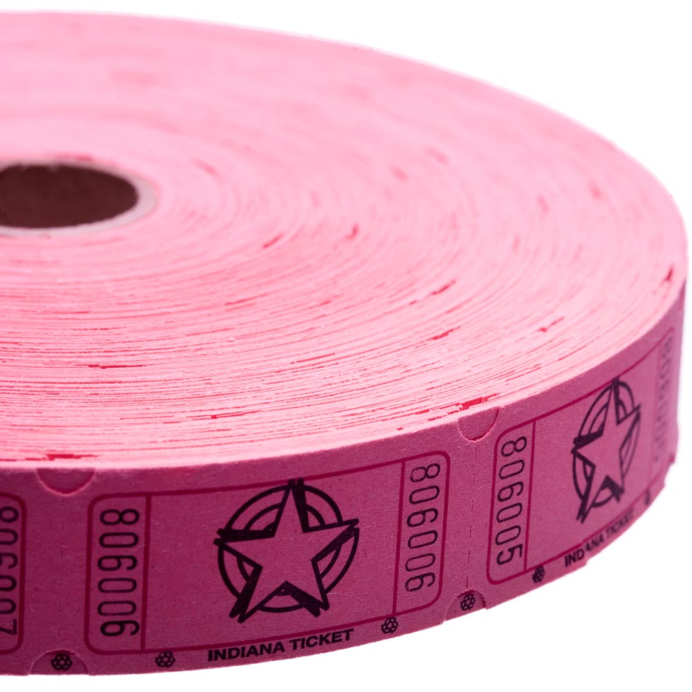 Pink Star Ticket Roll
