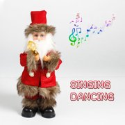 Christmas Singing Dancing Christmas Musical Doll Santa Claus Electric Kids Toy Home Table Decor