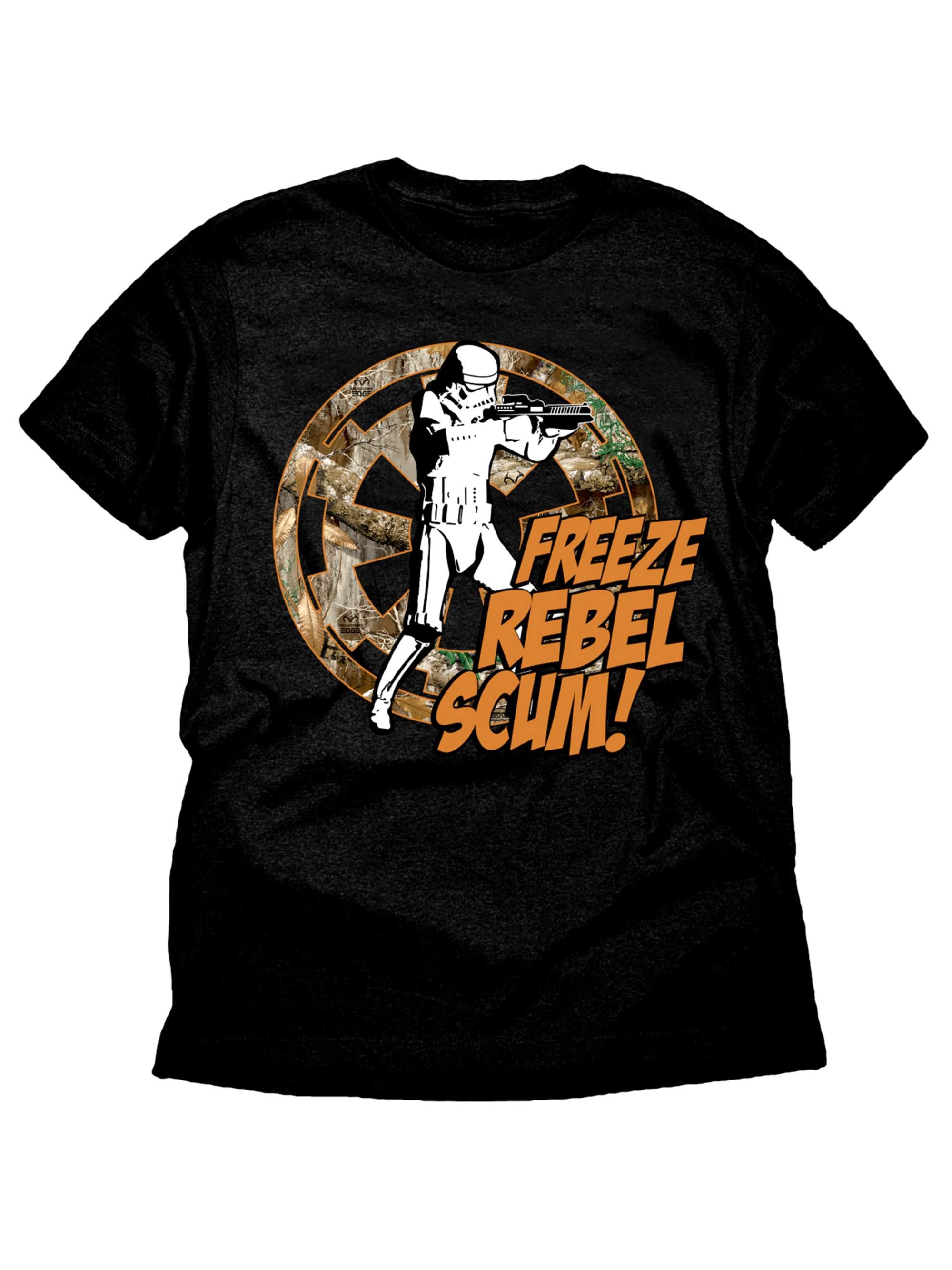 Star Wars Freeze Rebel Stormtrooper Realtree Boys Black Graphic T-Shirt