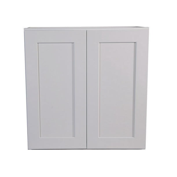 Design House Brookings Ready To Assemble 24x36x12 In Shaker Style Kitchen Wall Cabinet 2 Door In White Walmart Com Walmart Com