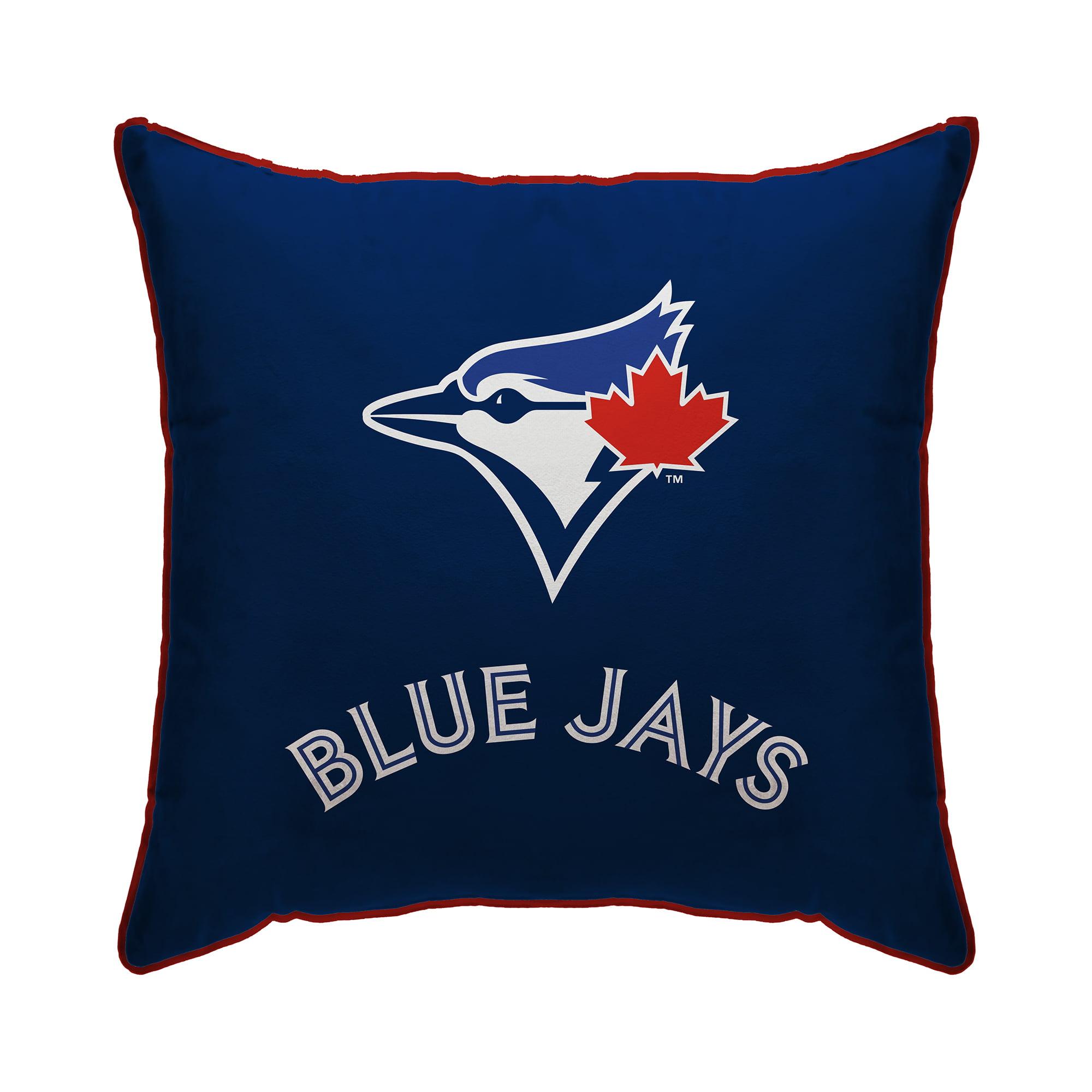 "Toronto Blue Jays 18"" x 18"" Plush Team Logo Decorative Throw Pillow - Blue - No Size"