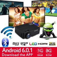 Excelvan Multimedia Home Theater Projector, Support Full HD 1080P 4K Video With HDMI/USB/AV/Headphone/VGA/TF Card Interfaces
