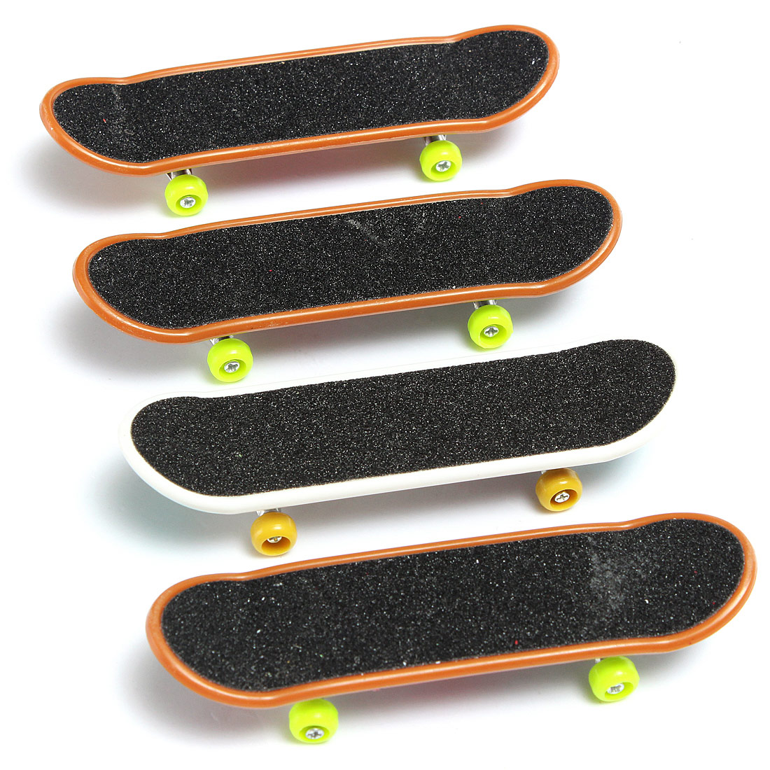 Halloluck 10 Pcs Matte Metal Mini Fingerboards Finger Skateboard Toy Professional Mini Fingerboards for Kids Birthday Gifts Party Supplies Party Favors