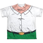 Family Guy - Peter Costume (Front/Back Print) - Youth Short Sleeve Shirt - Medium