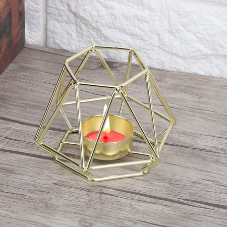 Noref Small Tealight Geometric Candle Holders Candlestick for Home Tabletop Art Decor , Candlestick, Candlestick Decor Cool Small Candlestick