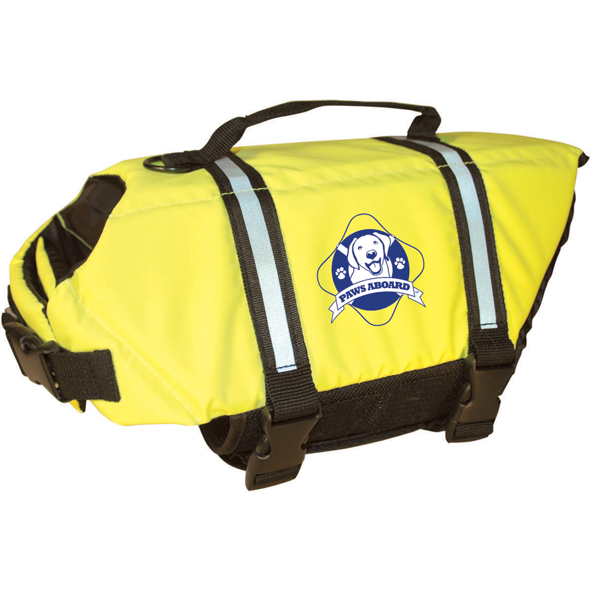 Paws Aboard Doggy Life Jacket Extra Large-Safety Neon Yellow