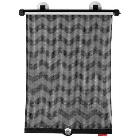Skip Hop Style Driven Window Shade, Car Window Shade for Baby, Tonal Chevron, 2 Pack