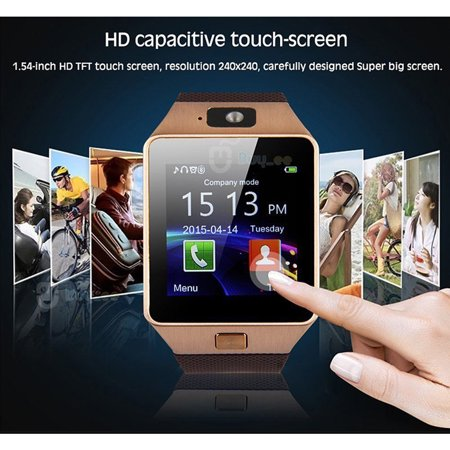 Dz09 Bluetooth Smart Watch For Ios Android Iphone Samsung Gold