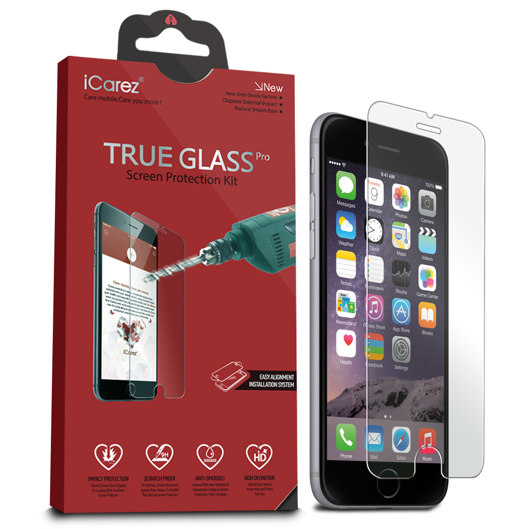 iCarez [Tempered Glass] Screen Protector for Apple iPhone 6 Plus /6s Plus (1-Pack 9H 0.33MM 2.5D) Anti Scratch Easy Install Buble Free