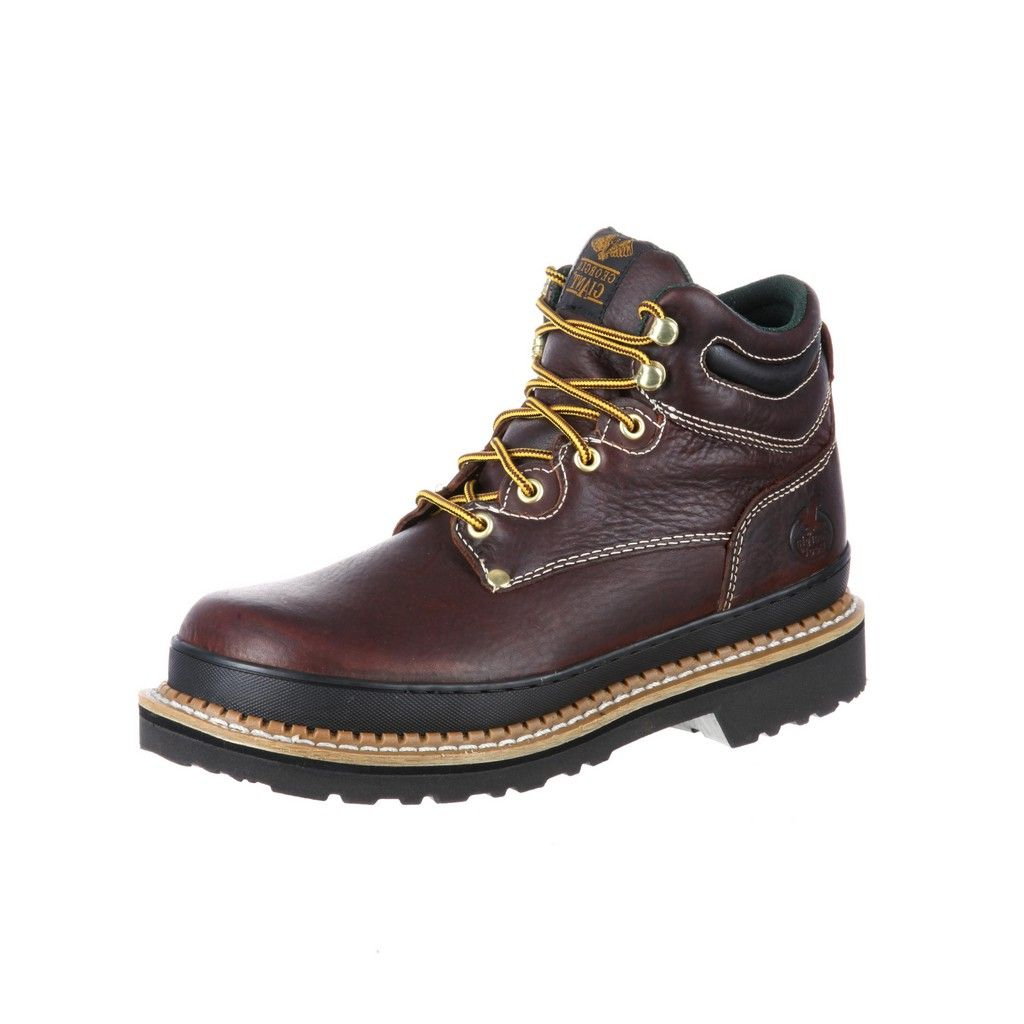 Work Boots Mens 6 Giant Oblique Steel Toe Soggy Brown G6375