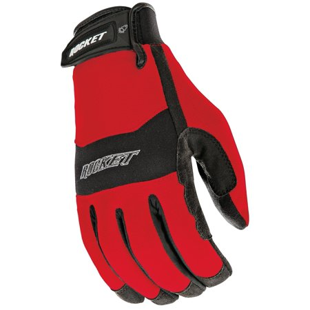 RX14 Crew Touch Men's Motorcycle Riding Gloves (Red/Black, Large), Conductive materials at the finger tips for instant touchscreen access By Joe Rocket Ship from US - Finger Rockets