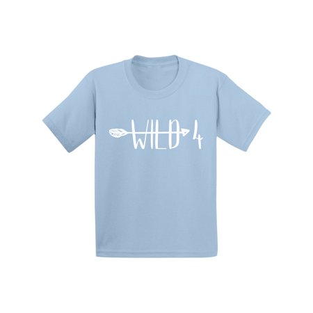 Awkward Styles Arrow Party Birthday B Day Party Shirt for Boys Shirts for Girls Wild Themed Party Gifts for 4 Year Old Gifts for 4 Year Old I am Four 4th Birthday Toddler Shirt for Kids 4th
