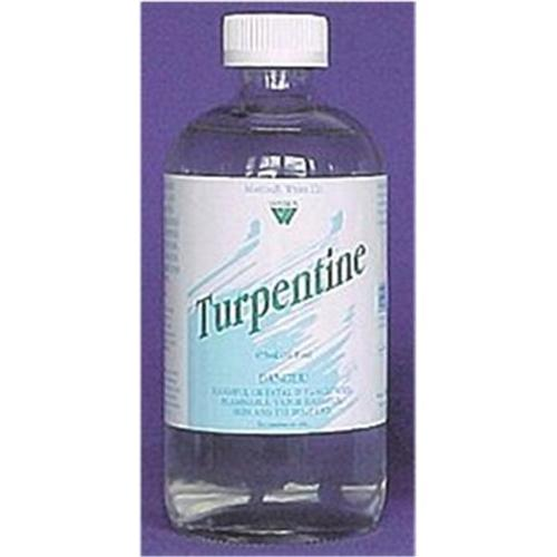 Art Supplies 1692 Turpentine Pure Gum Spirits - 8 Oz.