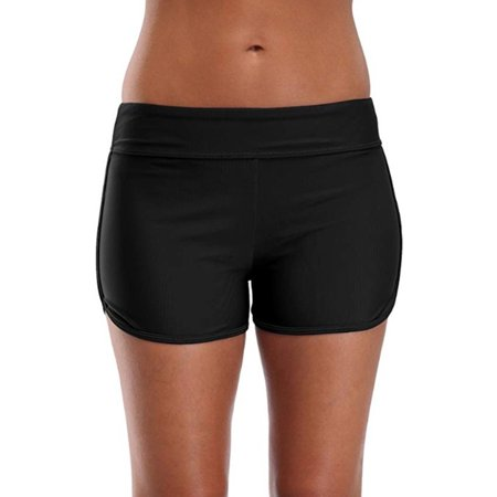 Women High Waist Swim Boy Shorts Briefs Bikini Bottom Tankini Shorts Swimsuit Sexy Swimwear Swimming Bathing Suit Beach