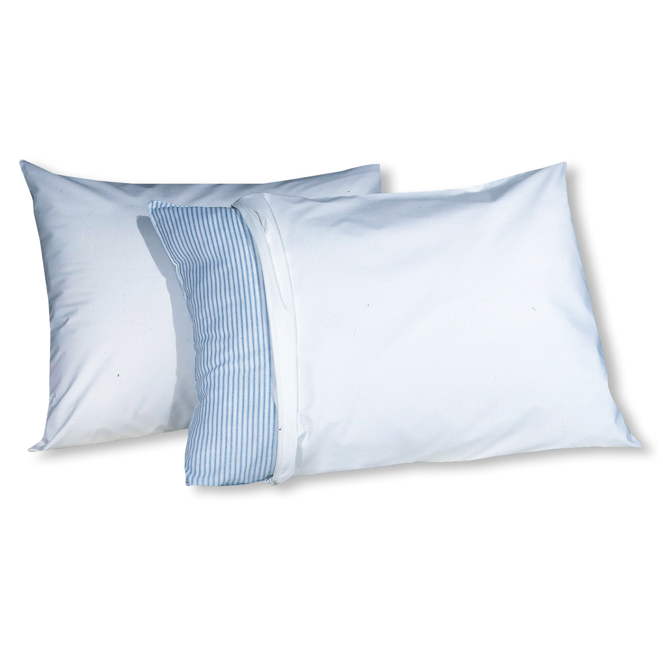 Fresh Ideas 180 Thread Count Standard Cotton Rich Pillow Protectors 2 ct Pack by Levinsohn Textile