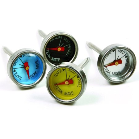 Thermometer Set - Norpro 5984 Mini Steak Thermometers - Stainless Steel Probe Color Coded Set Of 4