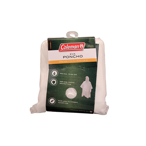 Coleman Apparel Youth 15mm Eva Poncho Clear by COLEMAN