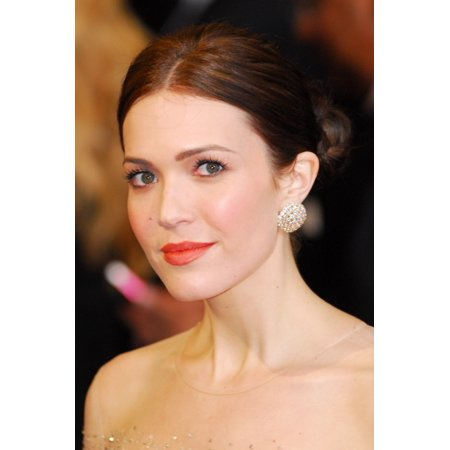 Mandy Moore  Wearing Chopard Earrings  At Arrivals For The 83Rd Academy Awards Oscars   Arrivals Part 2 Canvas Art     16 X 20