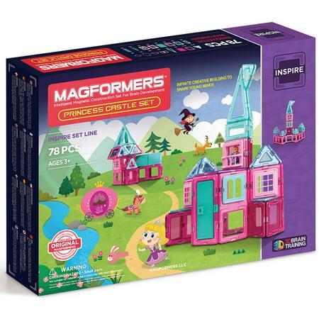 MAGFORMERS Princess Castle 78-Piece Magnetic Construction Set