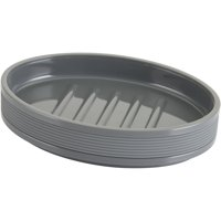 Mainstays Soft Touch Grey Soap Dish, 1 Each