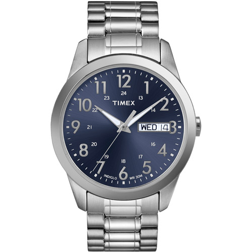 Timex Men's South Street Sport Watch, Silver-Tone Stainless Steel Expansion Band by Timex