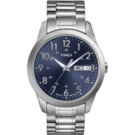Mens Timex Expansion Band Watch - Silver/Blue T2M9339J