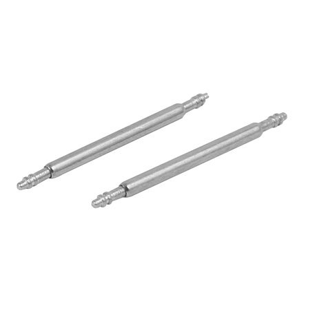 Stainless Steel Double Flanged End Spring Bar Pin 100pcs for 18mm Watch Band - image 1 of 2
