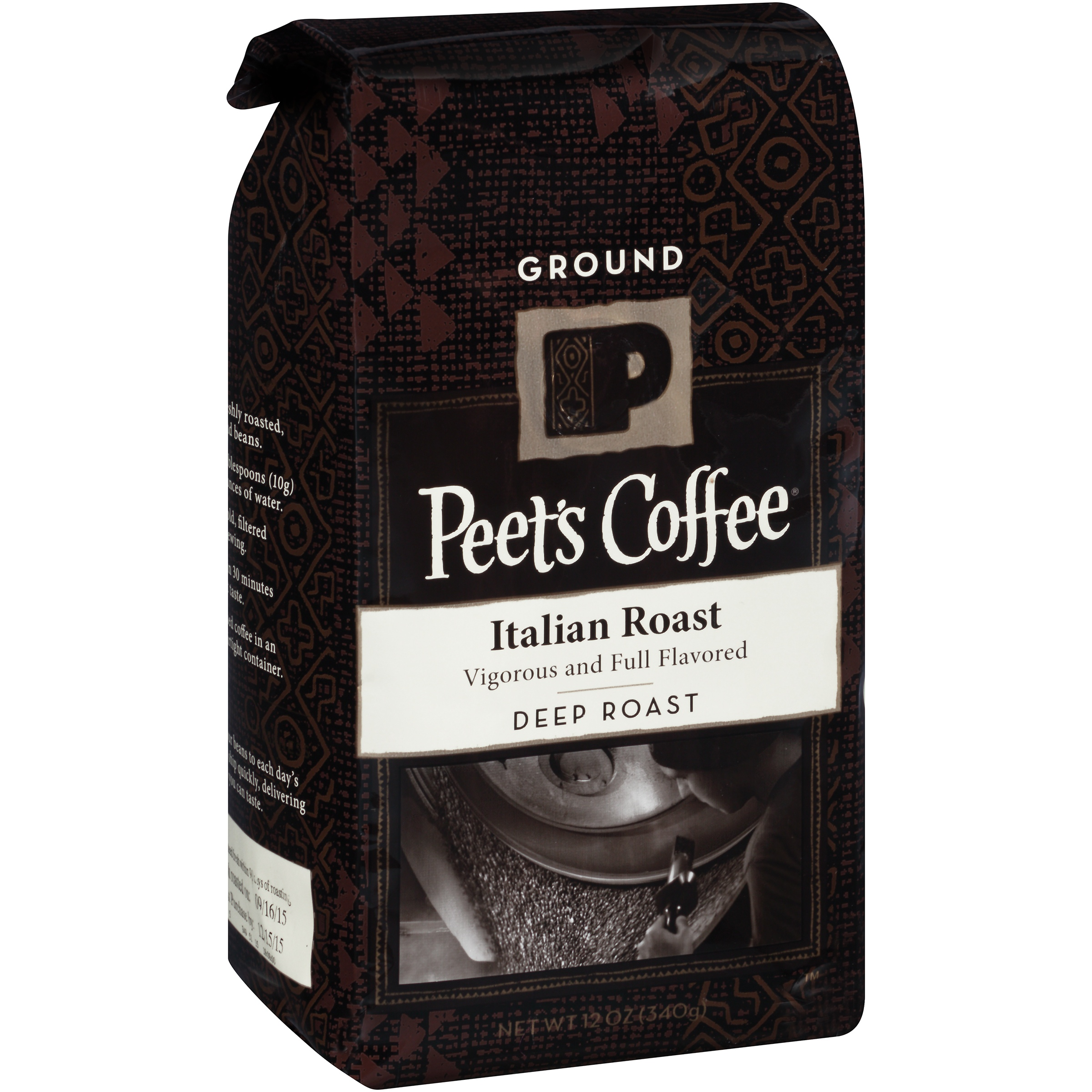 Peet's Coffee Italian Roast Deep Roast Ground Coffee, 12 oz