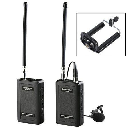 Saramonic SR-WM4C Wireless Lavalier Microphone System for Canon 6D 600D 5D2 5D3 Nikon D800 Sony DV DSLR