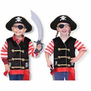 Melissa & Doug Pirate Role Play Costume Dress-Up Set With Hat, Sword, and Eye Patch by Melissa and Doug