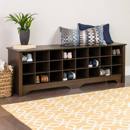 Prepac Entryway Shoe Storage Cubby Bench, Multiple Finishes ()