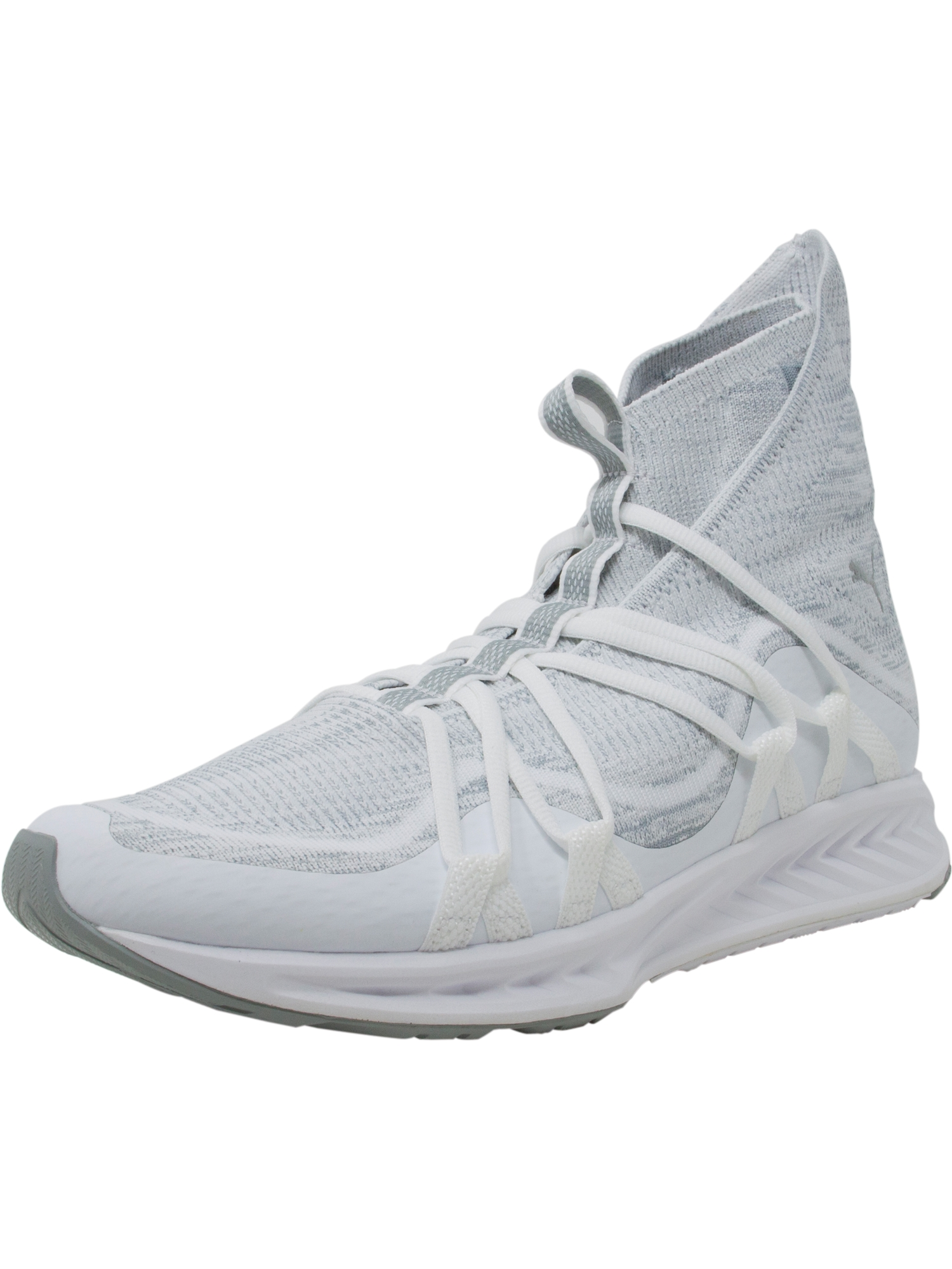 super popular 40953 16350 Puma Men's Ignite Evoknit Fold White / Quarry Mid-Top Training Shoes - 12M