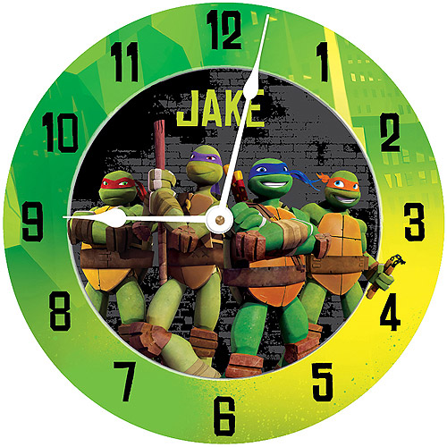 Personalized Teenage Mutant Ninja Turtles Turtle Power Wall Clock