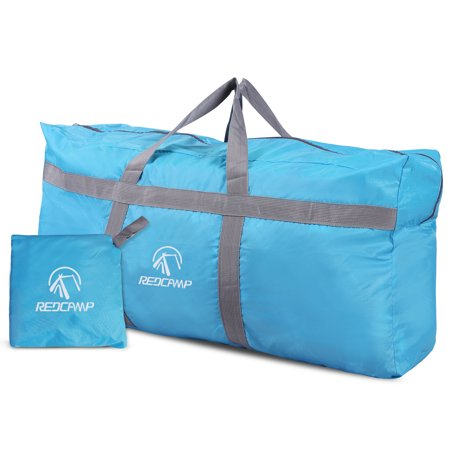 Redcamp Extra Large Duffle Bag 96l Blue Lightweight Waterproof Travel Duffel Foldable For Men