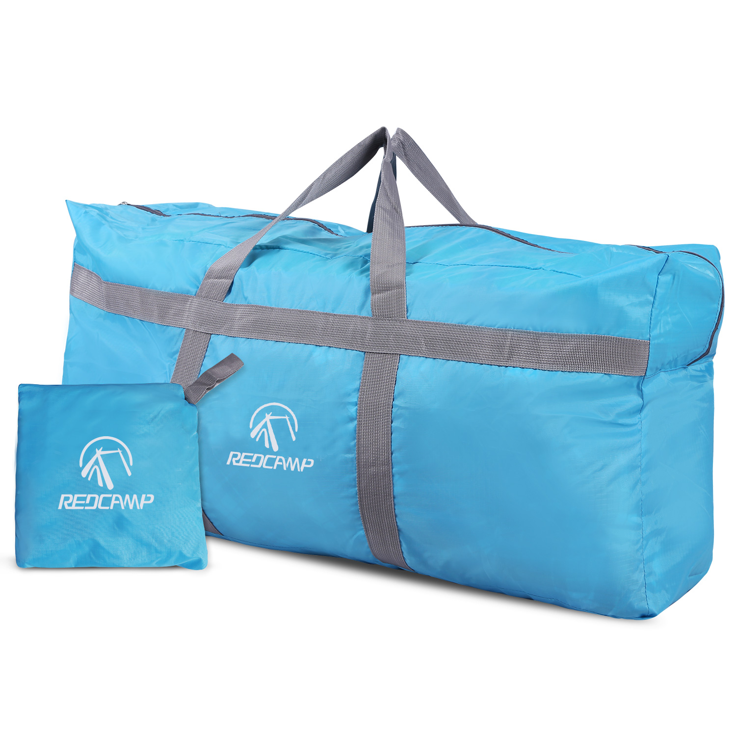 REDCAMP Extra Large Duffle Bag 96L Blue Lightweight, Waterproof Travel Duffel Bag Foldable for Men Women