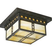Progress Lighting P3513 Arts & Crafts 2 Light Flush Mount Ceiling Fixture with H