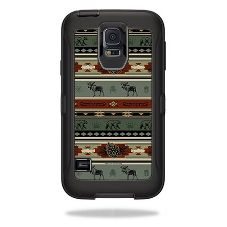 Skin For OtterBox Defender Samsung Galaxy S5  – Cabin Stripes | MightySkins Protective, Durable, and Unique Vinyl Decal wrap cover | Easy To Apply, Remove, and Change Styles | Made in the USA (Galaxy S5 Red Film)