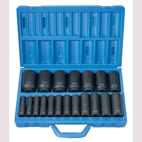 "Grey Pneumatic 1319D 1/2"" Drive 19 Pc. Deep Length Fractional Master Set"