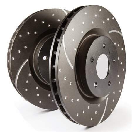 EBC Brakes GD1422 EBC 3GD Series Sport Slotted Rotors Fits 04-08 S4 - image 2 of 2