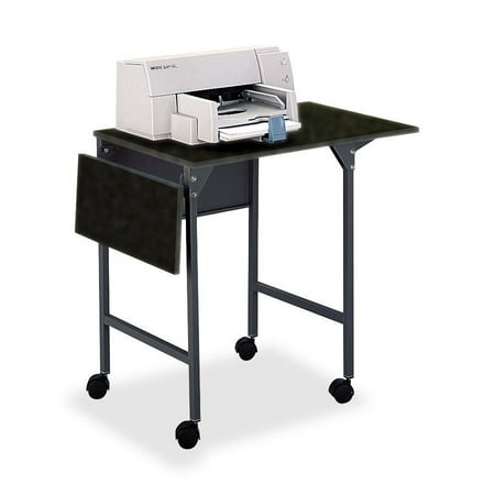 Safco, SAF1876BL, Drop Leaves Machine Stand, 1 Each, Black (Safco Mobile Computer Stand)