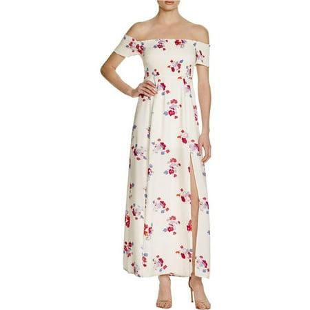 97f22c8c9d7 Minkpink - Minkpink Womens Falling Blooms Smocked Off-The-Shoulder Maxi  Dress - Walmart.com