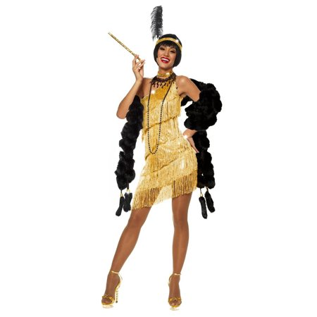 Adult Gold Flapper Dazzle Costume