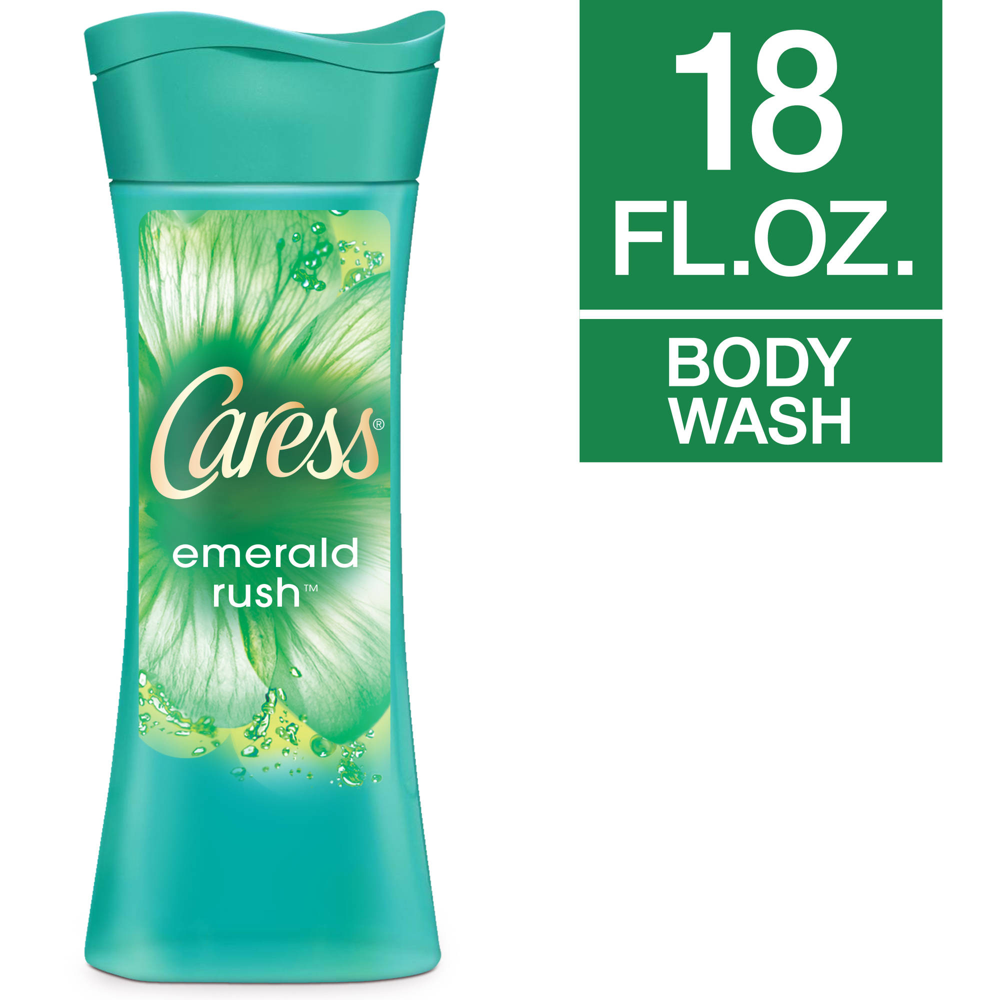 Caress Emerald Rush Lush Gardenia & White Tea Essence Fresh Body Wash, 18 fl oz