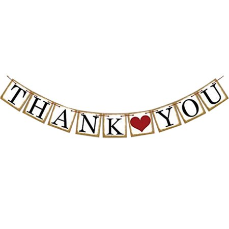 THANK YOU Hanging Bunting Party Holiday Decorations Flag - Thank You Decorations