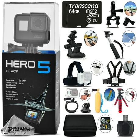 GoPro Hero 5 Black 4K30 Ultra HD, 12MP, Wi-Fi Waterproof Action Camera -64GB Kit](gopro hero5 black 4k action camera black friday)