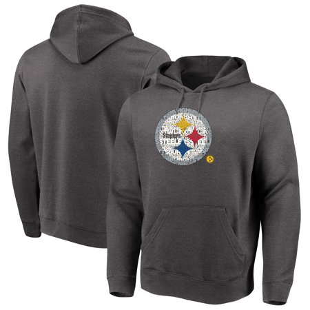 Majestic Line (Pittsburgh Steelers Majestic Big & Tall Line of Scrimmage Pullover Hoodie - Heathered Charcoal)