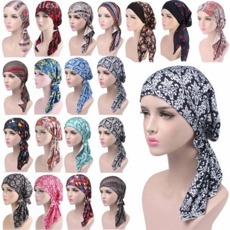 Womens Muslim Hijab Cancer Chemo Hat Turban Cap Cover Hair Loss Head Scarf Wrap