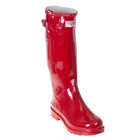 Forever Young Women Red Classic Rubber Rain Boots